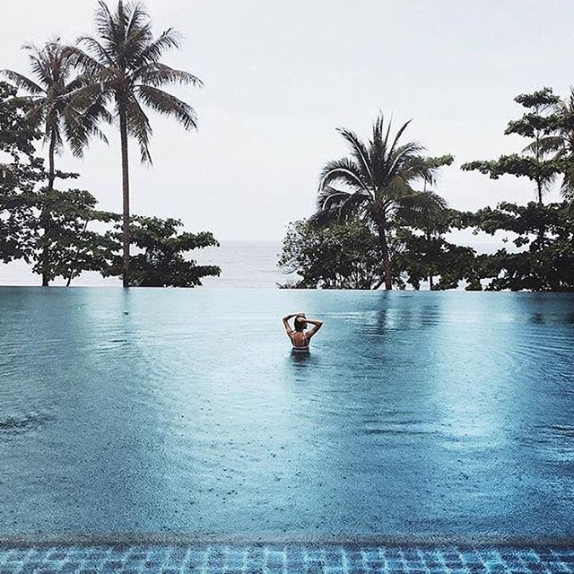 @pepamack in Thailand tag someone you'd swim in the rain with ⛈