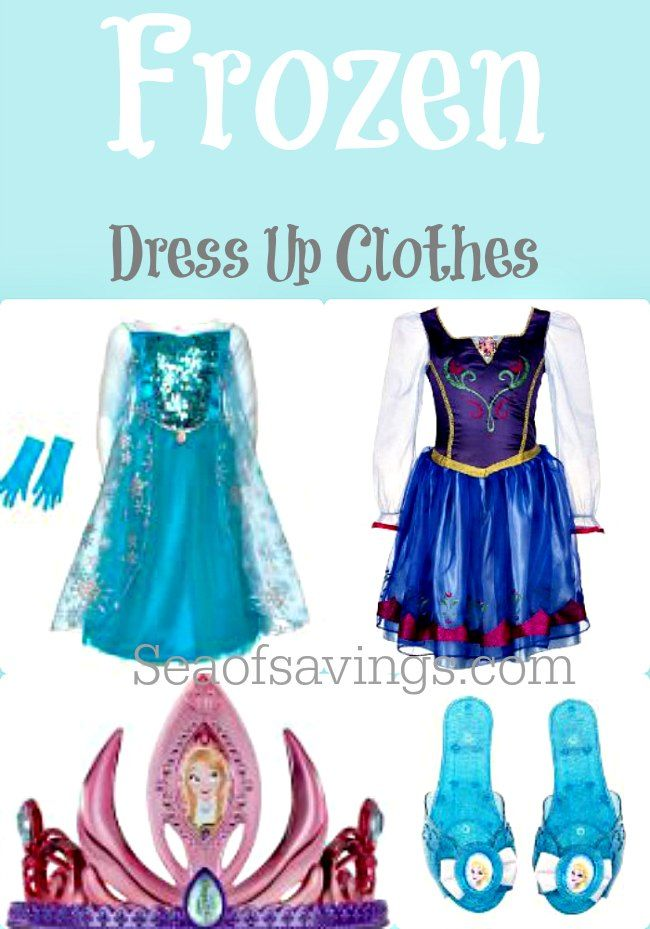 Frozen Dress up Clothes - Also great prices for using these as Halloween costumes.