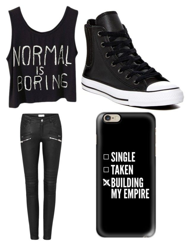 """""""Black hipster"""" by aleynabilekler on Polyvore featuring Converse and Casetify"""