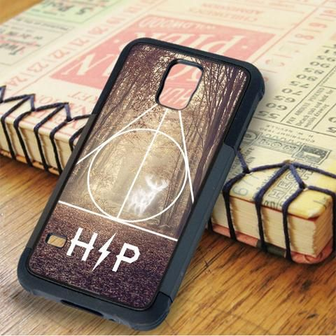 Harry Potter Hipster Deathly Hallows Expecto Patronum Samsung Galaxy S5 Case