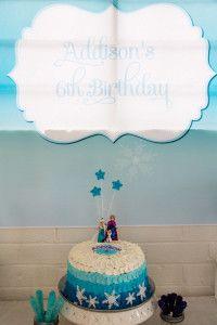 Disney Frozen Cake - Ombre Buttercream. Frozen Party Ideas www.christieblizzard.com