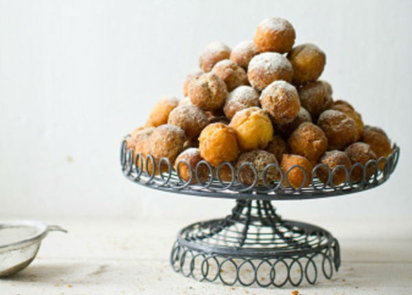 Traditional Venetian dessert - Castagnole with or without creme (similar to frittelles)