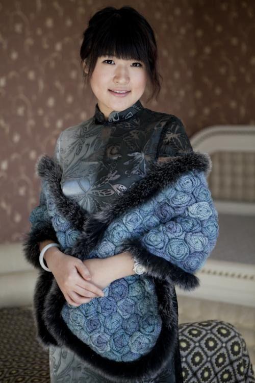 Khăn len hoa hồng xanh tuyệt đẹp | Đan & Móc