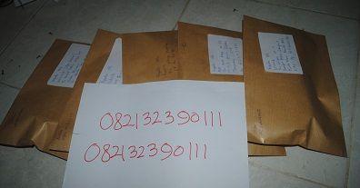 bukti paket kiriman yang sidap di antar