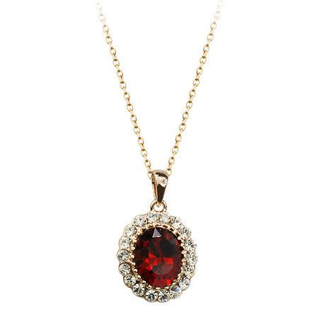 Бесплатная Доставка 18kgp каменное Сердце Ожерелья, 2016 ожерелье ювелирных изделий с 4 Цвет кристалл, золотые ожерелья конструкций
