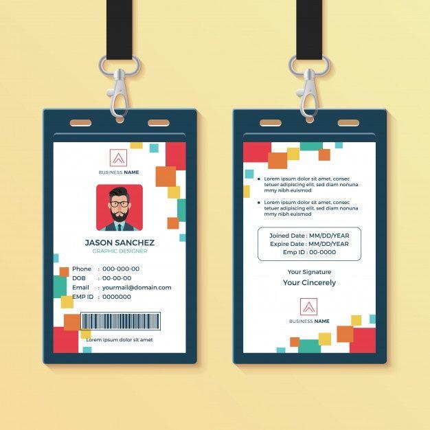 Modern Clean Graphic Id Card Design Template Id Card Template Card Template Identity Card Design