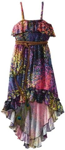 Amazon.com: Rare Editions Girls 7-16 Ity Print Hi-Low Dress: Clothing