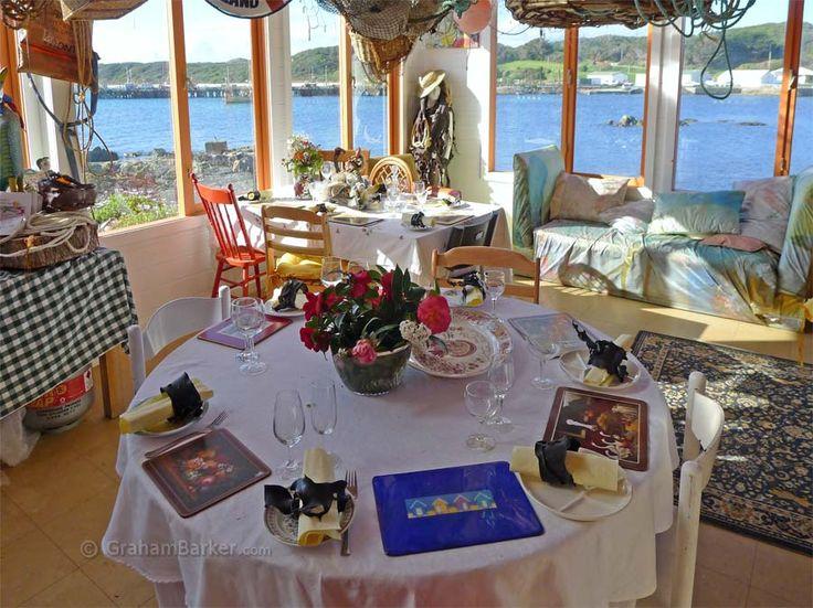 Inside the Restaurant with no food' King Island Boathouse Elegant, vintage, nautical, casual, romantic it's your call #WeddingWow #KingIslandWeddings
