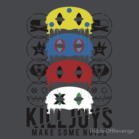 """This is a design I created called """"Killjoys, make some noise"""". It was inspired by the My Chemical Romance album, """"Danger Days: The True Lives of the Fabulous Killjoys"""".    I would very much appreciate it if you could check it out and maybe spread the word. (:"""