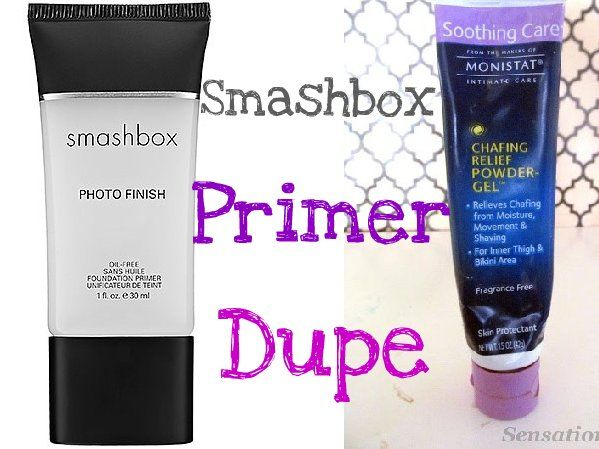Who knew? Monistat Chafing Relief is apparently an almost perfect dupe for Smashbox Photo Finish primer at about 1/4 of the price.