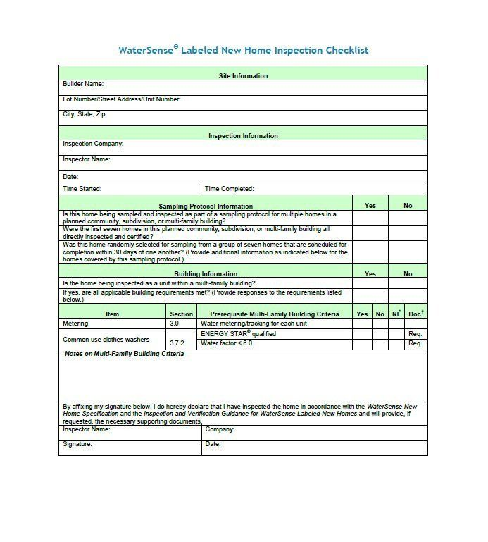 Home Inspection form Template Lovely 20 Printable Home ...