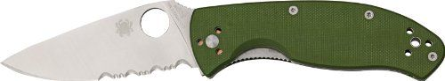Special Offers - Spyderco Knives 122GPSGR Part Serrated Tenacious Linerlock Knife with Green G-10 Handles - In stock & Free Shipping. You can save more money! Check It (June 28 2016 at 01:39PM) >> http://huntingknivesusa.net/spyderco-knives-122gpsgr-part-serrated-tenacious-linerlock-knife-with-green-g-10-handles/