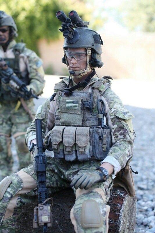Us Ranger Multicam 1 6 Scale Figures Military Action