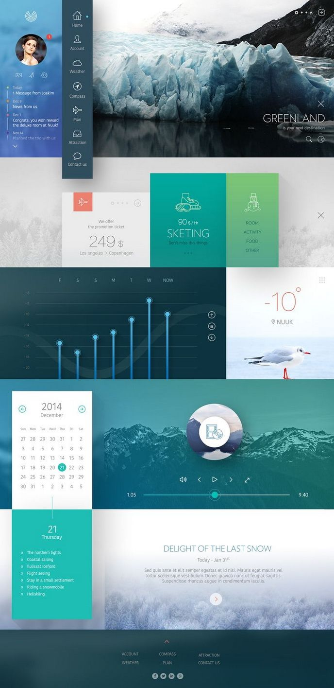 Ui Design Ideas 20 mobile user interface design for your inspiration hongkiat Digital Art Selected For The Daily Inspiration 1986 I Love The Extension Of Flat Ui