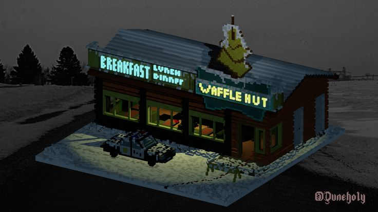 Yury Mikhno via Behance: The Waffle Hut from Fargo