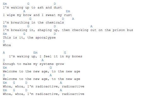 Funky Radioactive Ukulele Chords Images - Chord Sites - creation ...
