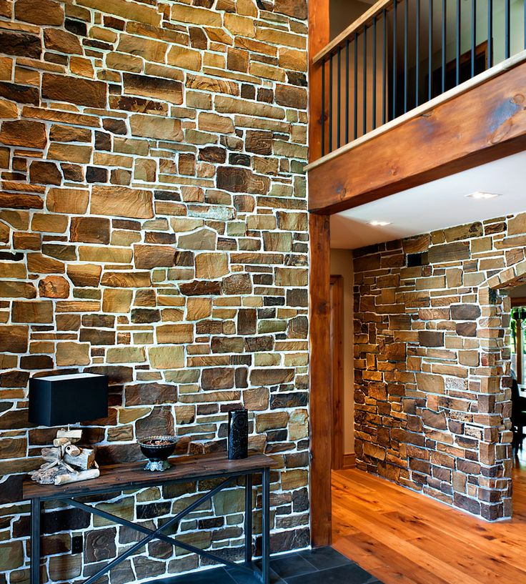 Rock Accent Wall Around Door: 62 Best Stone Veneer Stairs Images On Pinterest