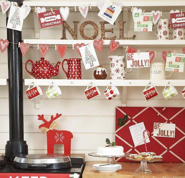 73 Brilliant Scandinavian Christmas decorating ideas  ...that polka dot teapot!!!!!! W:A:N:T!!!