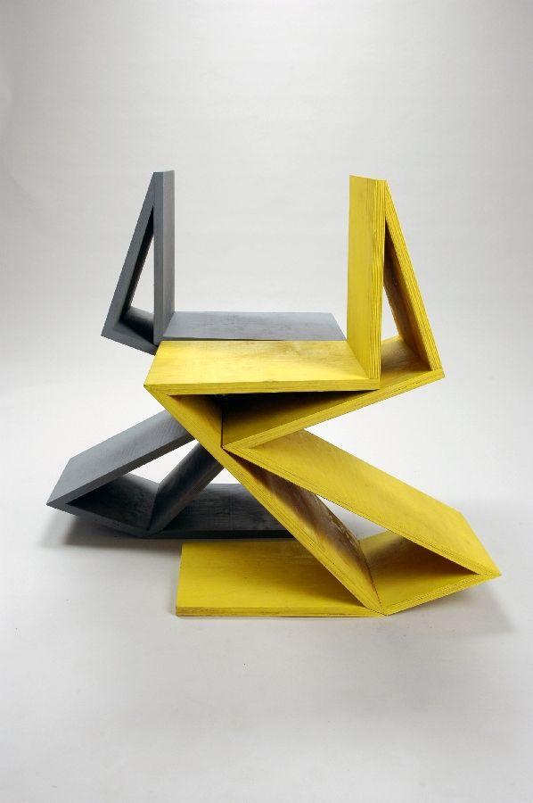"Remix Gerrit Rietveld chair ""Zig Zag""  by Kateryna Sokolova //"