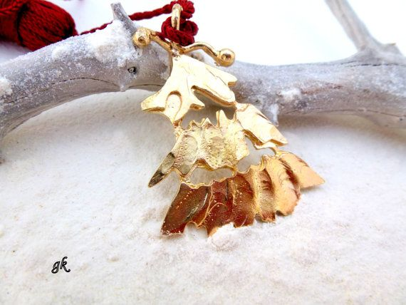 Brass Christmas tree ornament bookmark lucky by GeorgiaCollection, €21.00