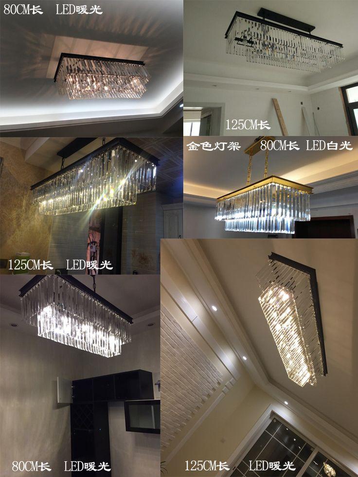 Американская деревня люстра гостиной огни ресторан Continental Железный дом прямоугольная люстра творческой личности RH - Taobao