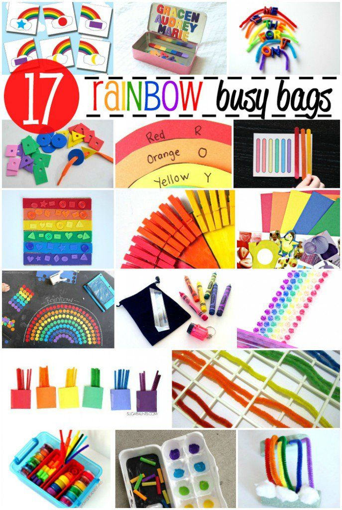Rainbow Activities for Kids' Busy Bags - LalyMom