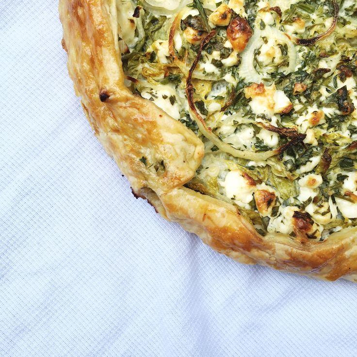 Romaine sla: hartige taart met gegrilde sla made by ellen