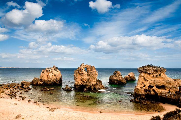 Sandstone rocks, #Albufeira beach, #Algarve.