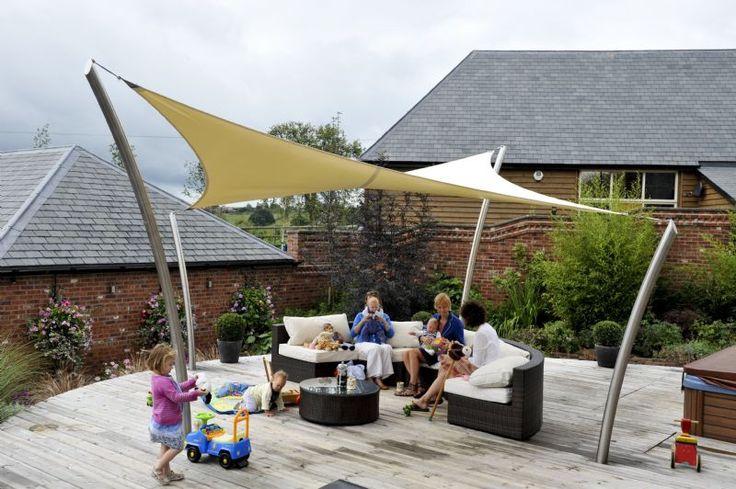 Garden Sail The Roller Tensile Fabric Garden Structure