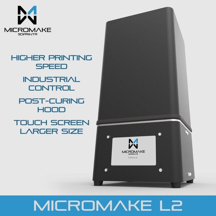 Micromake New Upgrade L2 UV Resin 3d printer SLA/DLP 3D Printer for curing with touch screen High Accuracy