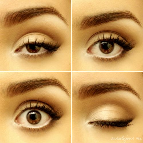 Tutorial at: http://saradujour.me/post/52256608827/tutorial-my-everyday-soft-cat-eye
