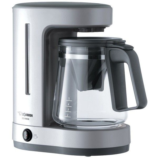 Zojirushi Zutto 5-Cup Coffee Maker ($85) ❤ liked on Polyvore featuring home, kitchen & dining, small appliances, silver, zojirushi coffee maker and zojirushi