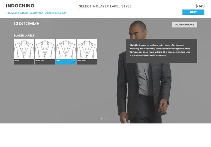 Indochino Desktop Customise Product Functionality - http://www.cartrepublic.com/gallery/2014/09/indochino-desktop-customise-product-functionality/