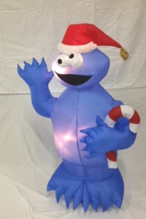 Details about GEMMY  SNOWMAN  GIANT AIRBLOWN INFLATABLE  WINTER CHRISTMAS LIGHTS UP  Sesame street  Christmas cookies Christmas Snowman