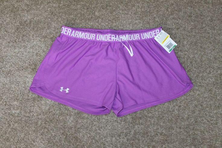 Under Armour Womens Play Up Shorts Purple Size Medium, Large, X Large  1264264 #UnderArmour #Shorts