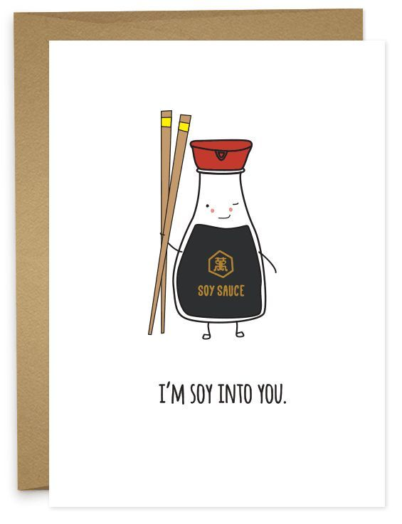 Hey there, saucy one. Give that guy/girl a wink and tell them bout the crush you have. Whether you're married or on your 2nd Tinder date, the sentiment will be appreciated. • A6 folded card • blank in