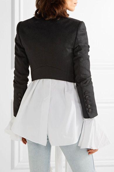 Alice Olivia - Josette Embellished Wool-blend Jacket - Black - US10