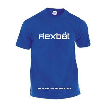 Camiseta adulto unisex Flexbot varias tallas.