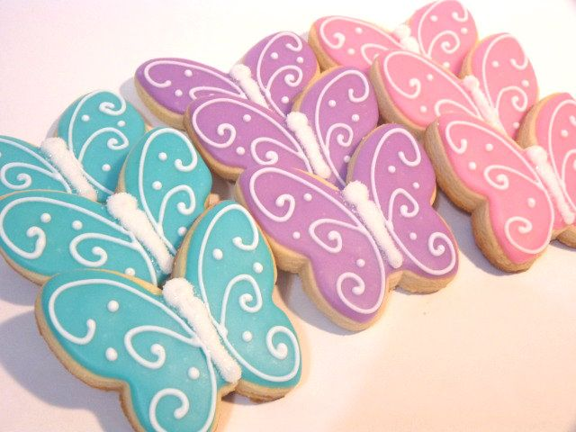 Butterflies made for baby shower favors