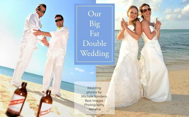 """Read about their """"Big Fat Double Wedding"""" at www.destinationvows.ca!"""