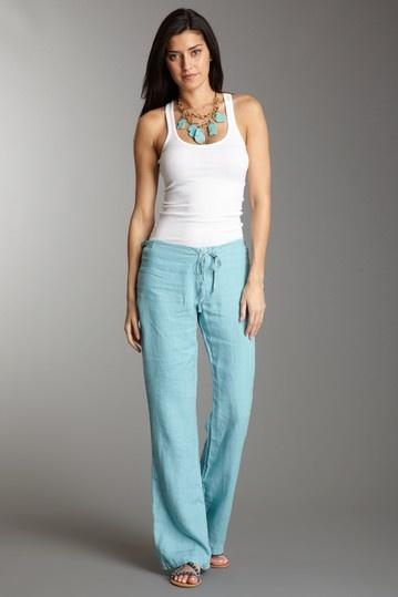Should Get A Bright Color Linen Pants