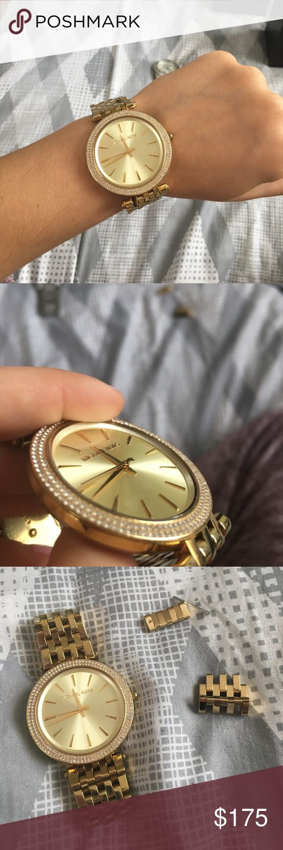 Michael Kors Darci Gold Tone Watch Style MK 3191. Needs a new battery. 1 scratch on the face and normal wear and tear on the band but in great condition still. Comes with extra links and box. Michael Kors Accessories Watches