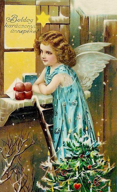 Друзьям, старинные русские открытки с ангелами