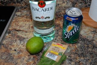 The Easy Mojito - 1.5 oz of Bacardi Rum - Sprite - Fresh mint - Lime