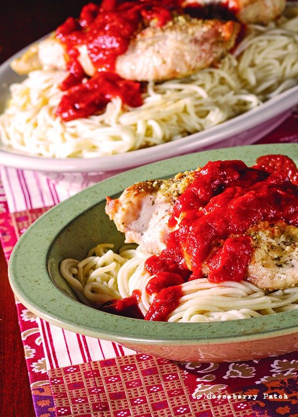 Gooseberry Patch Recipes: Chicken Parmigiana Casserole from Cook it Quick