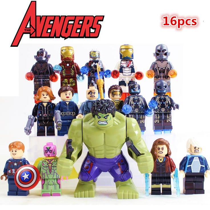 $19.99 (Buy here: https://alitems.com/g/1e8d114494ebda23ff8b16525dc3e8/?i=5&ulp=https%3A%2F%2Fwww.aliexpress.com%2Fitem%2F16pcs-Avengers-2-Ultron-Quicksilver-Marvel-Iron-Man-Hulk-Thor-Black-Widow-Scarlet-Witch-Superhero-Minifigures%2F32378953878.html ) 16pcs Avengers 2 Ultron Quicksilver Marvel Iron Man Hulk Thor Black Widow Scarlet Witch Superhero Minifigures Compatible Lego for just $19.99