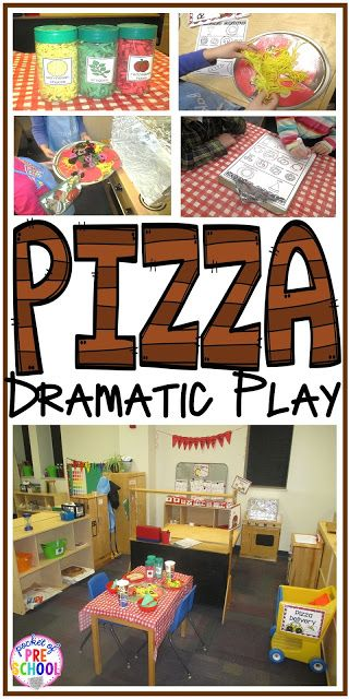 Tips and tricks on how to create a pizza restaurant in the dramatic play center in your early childhood classroom!