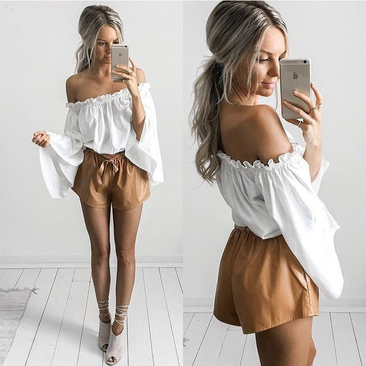 Loose Long Sleeve Chiffon Strapless Shirt Top Tee