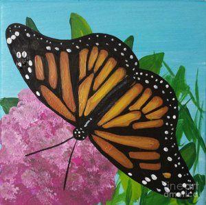 Monarch Butterfly Painting - Monarch by Jennifer Howard