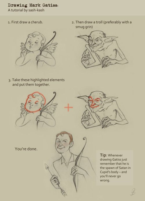 Drawing Mark Gatiss: A tutorial by sash-kash.